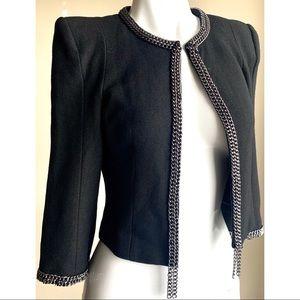 XXI Cropped Wool Blazer Black XS